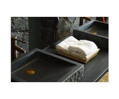 Lavabo Vasque salle de bain en pierre 40-60x40 Basalte noir - BORNEO