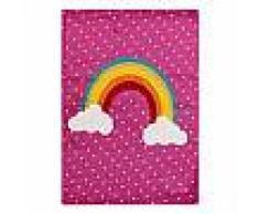 Tapis enfant noa_kids_rainbow Mauve 80x150 cm - Tapis pour chambre d'enfants/bébé