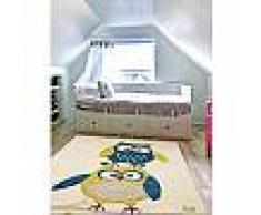 Tapis enfant Eule Bleu 140x200 cm - Tapis pour chambre d'enfants/bébé