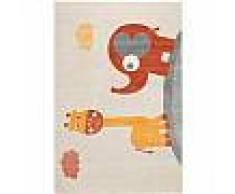Tapis enfant Fantasia Orange 80x150 cm - Tapis pour chambre d'enfants/bébé
