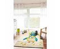 Tapis enfant Eule Bleu 120x170 cm - Tapis pour chambre d'enfants/bébé