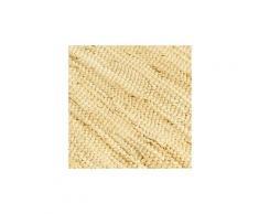 Icaverne - sets de table chic napperons 6 pcs chindi plain beige 30 x 45 cm coton