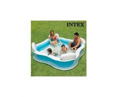 Chic piscine gonflable familiale summer avec sièges intex