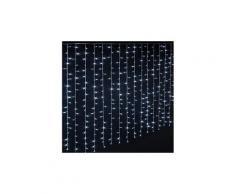 Rideau extérieur lumineux 400 led blanc froid - dim : l.200 x l.0,5 x h.200 cm -pegane-