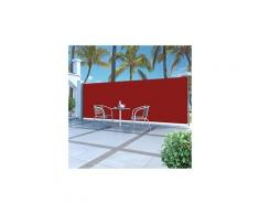 Auvent latéral rétractable 180 x 500 cm rouge