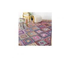 Tapis chambre carre boutik multicolore 40 x 60 cm tapis de salon moderne design par unamourdetapis