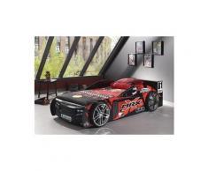 Lit voiture Swithome MRX 90x200 Rouge/Noir