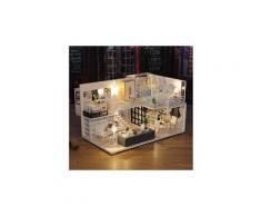 Maison miniature bricolage 3d en bois meubles led maison puzzle décorez cadeaux creative jouets éducatifs chaingzi 1612