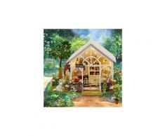 Maison de poupée miniature maison bricolage kit en bois artisanat fait main cadeau sunshine house jouets éducatifs