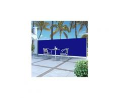 Auvent latéral rétractable 160 x 500 cm bleu