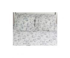 Couvre-lit boutis matelassé 220x240 cm marjorie avec 2 taies d'oreiller