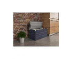 Coffre jardin store - 480 l - 132 x 61 x 60 cm - gris