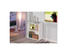 Petite étagère bibliothèque rayonnage meuble de salle de bain ou de bureau blanc