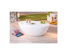Table basse en fibre de verre coloris blanc - 108 x 60 x 38 cm -pegane-