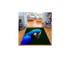 Tapis rectangulaire velours antidérapant imprimé animaux yaya the parrot - 135 x 200 cm