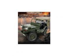 4 roues motrices rc camion 01:10 mini militaire jeep buggy télécommande hors route avec tente drone 705