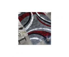 Tapis rond pour le salon havana prestige gris 120 x 120 cm tapis de salon moderne design par unamourdetapis