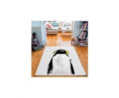Tapis rectangulaire velours antidérapant imprimé animaux william - 135 x 200 cm