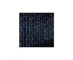 Rideau lumineux extérieur 600 led blanc froid - dim : l.300 x l.0,5 x h.200 cm -pegane-