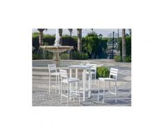 Salon de jardin en aluminium table bar 4 places anthonyna