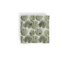 Icaverne coussin de sol - matelas de sol coussin de sol nouméa - 100% coton - 40 x 40 cm - vert et blanc