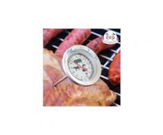 Thermomètre à affichage analogique pour la cuisson de la viande - pour toutes les viandes et pour barbecue