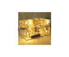 3d en bois bricolage maison miniature meubles led maison puzzle décorer des cadeaux créatifs jouets éducatifs