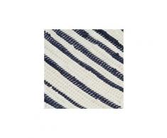 Icaverne - sets de table esthetique napperons 6 pcs bleu et blanc 30 x 45 cm coton