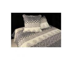 Couvre-lit boutis matelassé 260x240 cm blois avec 2 taies d'oreiller