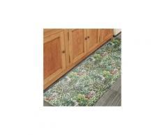 Tapis pour couloir vinyle flore vert 75 x 180 cm fabriqué en europe tapis de salon moderne design par unamourdetapis