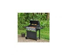 Barbecue barbecue a gaz 4 feux - acier émaillée - noir