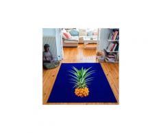 Tapis rectangulaire velours antidérapant imprimé fruits mr. Pineapple - 135 x 200 cm