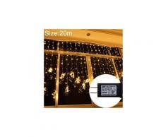 Lumière de fête-ul588 20m ip43 rideau lumineux led imperméable (blanc chaud)