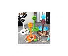 Jouets en bois 5pcs bague animal throw jeu éducatif puzzle jouer throw toy puzzle 1459