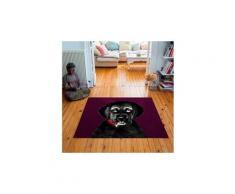 Tapis carré velours antidérapant imprimé animaux billy joe - 135 x 135 cm