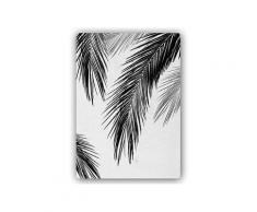 Plaque acier décorative feuilles de palmier
