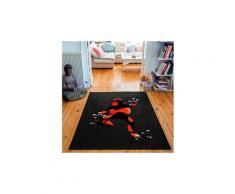 Tapis rectangulaire velours antidérapant imprimé animaux carol - 135 x 200 cm