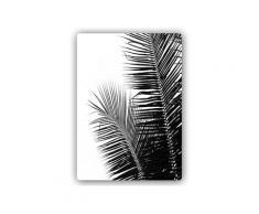 Plaque acier déco feuilles de palmier 2