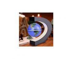 C forme magnétique globe led flottant globe décoration ampoule led