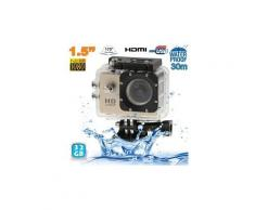Camera embarquée sport lcd caisson étanche waterproof 12 mp fullhd 1080p or 32go - yonis