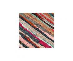 Icaverne - sets de table sublime napperons 6 pcs chindi plain multicolore 30 x 45 cm coton