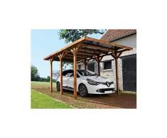 Carport en bois traité enzo - 15,72 m²