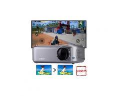 1080p led vidéo hd mini projecteur portable movie tv stick pour ps4 ecran de projection