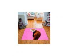 Tapis carré velours antidérapant imprimé animaux roxy - 135 x 135 cm