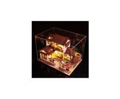 3d maison de poupée en bois ville antique bricolage modèle miniature cadeaux de noël jouets jouets éducatifs chaingzi 366