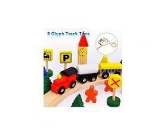 Apprentissage en bois puzzle enseignement scène éducation 8 glyph urban piste jouets pour enfants puzzle 1428
