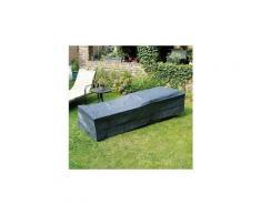 Housse de protection bain de soleil 205x78xh40 cm gris/noir graphite