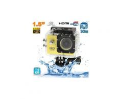 Camera embarquée sport lcd caisson étanche waterproof full hd 1080p jaune 16 go - yonis