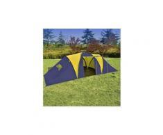 Camping et randonnée categorie vienne tente de camping 9 personnes bleu et jaune