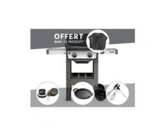 Barbecue gaz weber spirit ii e-210 gbs + thermomètre igrill 3 + plancha + kit ustensile + housse offerte